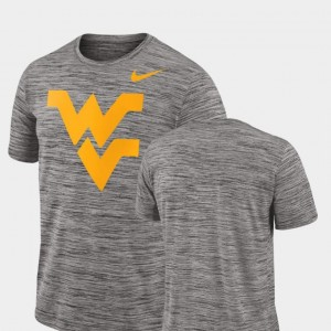 West Virginia Mountaineers T-Shirt 2018 Player Travel Legend Performance Charcoal Men's