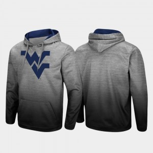 West Virginia Mountaineers Hoodie Heathered Gray Pullover Sitwell Sublimated Men's