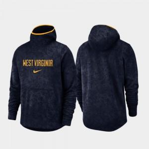 West Virginia Mountaineers Hoodie Navy Spotlight Mens Basketball Team Logo Pullover