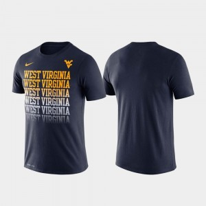 West Virginia Mountaineers T-Shirt Fade Performance Men's Navy