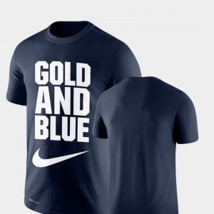 West Virginia Mountaineers T-Shirt Navy Legend Franchise Performance Men