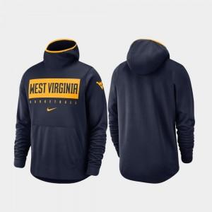 West Virginia Mountaineers Hoodie Spotlight Basketball Navy For Men