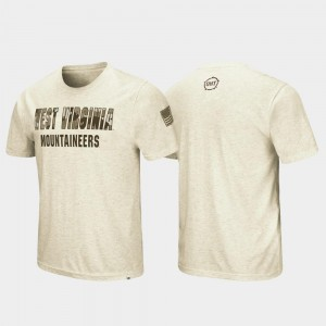 West Virginia Mountaineers T-Shirt OHT Military Appreciation Desert Camo For Men's Oatmeal