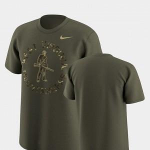 West Virginia Mountaineers T-Shirt Men's Olive Legend Camo