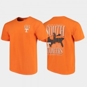 West Virginia Mountaineers T-Shirt For Men Welcome to the South Comfort Colors Tennessee Orange