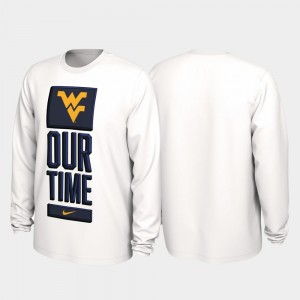 West Virginia Mountaineers T-Shirt Our Time Bench Legend Mens 2020 March Madness White