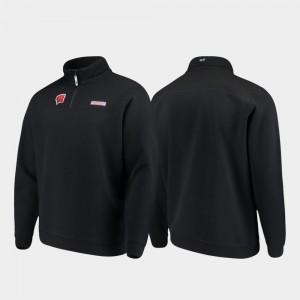 Wisconsin Badgers Jacket Men Black Shep Shirt Quarter-Zip