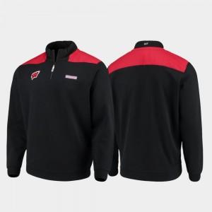 Wisconsin Badgers Jacket Black Quarter-Zip Pullover Men's Shep Shirt