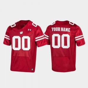 Wisconsin Badgers Customized Jerseys For Men Red Football #00 Replica