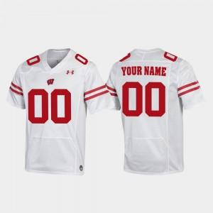 Wisconsin Badgers Custom Jerseys Men's #00 Replica Football White