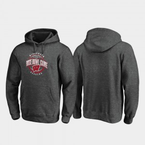 Wisconsin Badgers Hoodie Scrimmage For Men's 2020 Rose Bowl Bound Heather Gray