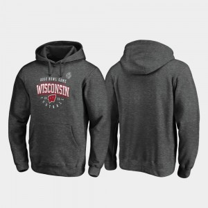 Wisconsin Badgers Hoodie 2020 Rose Bowl Bound Tackle Heather Gray Men