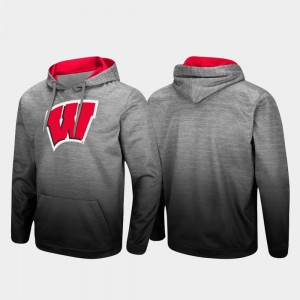 Wisconsin Badgers Hoodie Heathered Gray Pullover Sitwell Sublimated For Men