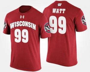 Wisconsin Badgers J.J. Watt T-Shirt Men Red #99