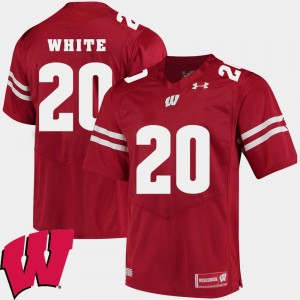 Wisconsin Badgers James White Jersey #20 Men's Alumni Football Game Red 2018 NCAA