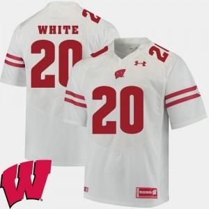 Wisconsin Badgers James White Jersey White #20 For Men's 2018 NCAA Alumni Football Game