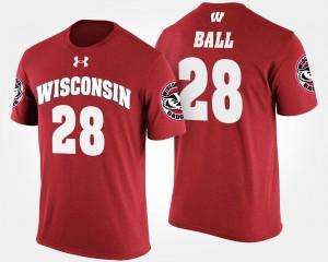 Wisconsin Badgers Montee Ball T-Shirt Red Mens #28