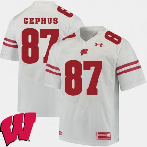 Wisconsin Badgers Quintez Cephus Jersey For Men 2018 NCAA Alumni Football Game White #87