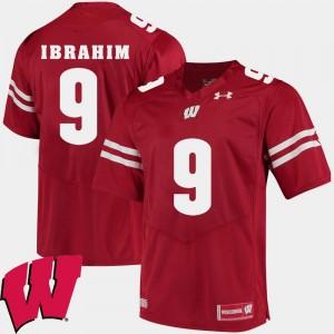 Wisconsin Badgers Rachid Ibrahim Jersey Red #9 2018 NCAA For Men's Alumni Football Game