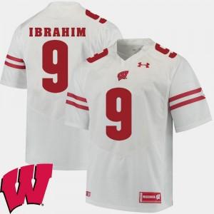 Wisconsin Badgers Rachid Ibrahim Jersey Mens White #9 2018 NCAA Alumni Football Game