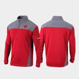 Wisconsin Badgers Jacket Omni-Wick Standard Quarter-Zip Pullover For Men Red