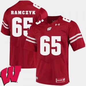 Wisconsin Badgers Ryan Ramczyk Jersey #65 Men Alumni Football Game 2018 NCAA Red