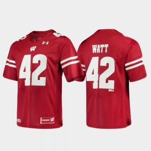 Wisconsin Badgers T.J. Watt Jersey Replica Red Alumni Football Game Men #42