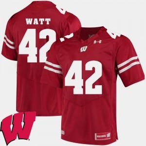 Wisconsin Badgers T.J. Watt Jersey For Men #42 Alumni Football Game Red 2018 NCAA