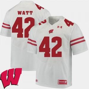 Wisconsin Badgers T.J. Watt Jersey 2018 NCAA White Alumni Football Game Men's #42