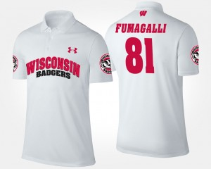 Wisconsin Badgers Troy Fumagalli Polo Men's White #81