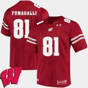 Wisconsin Badgers Troy Fumagalli Jersey Men 2018 NCAA #81 Alumni Football Game Red