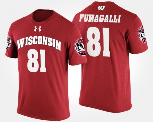 Wisconsin Badgers Troy Fumagalli T-Shirt Men's Red #81
