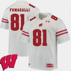 Wisconsin Badgers Troy Fumagalli Jersey 2018 NCAA White Alumni Football Game #81 Mens