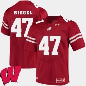 Wisconsin Badgers Vince Biegel Jersey For Men's Alumni Football Game Red #47 2018 NCAA
