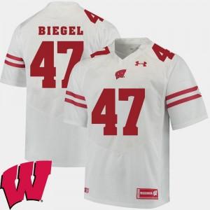Wisconsin Badgers Vince Biegel Jersey #47 Alumni Football Game Mens White 2018 NCAA