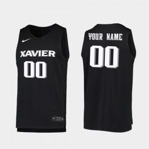 Xavier Musketeers Custom Jerseys #00 Men Replica 2019-20 College Basketball Black