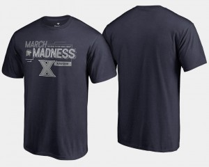Xavier Musketeers T-Shirt Navy 2018 March Madness Bound Airball For Men Basketball Tournament