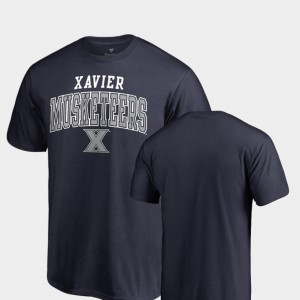 Xavier Musketeers T-Shirt For Men's Navy Square Up