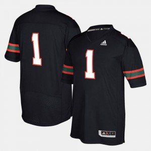Miami Hurricanes Jersey #1 For Men's Black 2017 Special Games