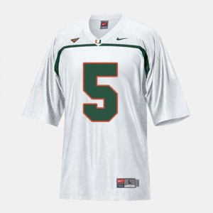 Miami Hurricanes Andre Johnson Jersey Youth(Kids) College Football #5 White