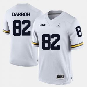 Michigan Wolverines Amara Darboh Jersey College Football White Mens #82