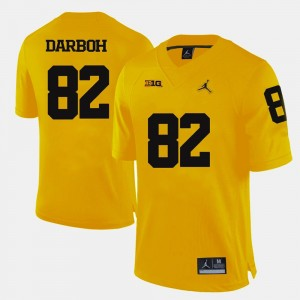 Michigan Wolverines Amara Darboh Jersey #82 Yellow College Football Mens