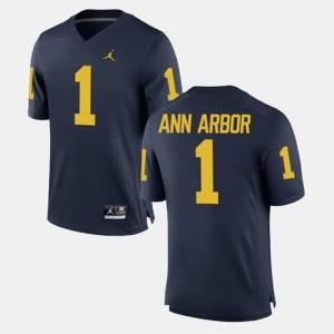 Michigan Wolverines Ann Arbor Jersey #1 Men's Navy Alumni Football Game