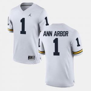 Michigan Wolverines Ann Arbor Jersey #1 Alumni Football Game For Men White