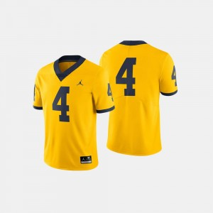 Michigan Wolverines Jersey College Football Maize Mens #4