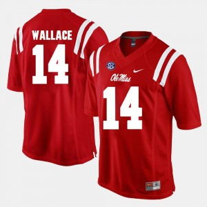 Ole Miss Rebels Mike Wallace Jersey Red For Men's Alumni Football Game #14