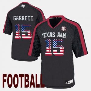 Texas A&M Aggies Myles Garrett Jersey #15 US Flag Fashion Black Men