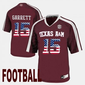 Texas A&M Aggies Myles Garrett Jersey Men's US Flag Fashion #15 Maroon