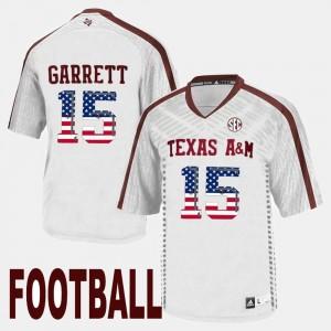 Texas A&M Aggies Myles Garrett Jersey #15 Mens White US Flag Fashion