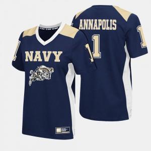 Navy Midshipmen Jersey Navy College Football For Women #1